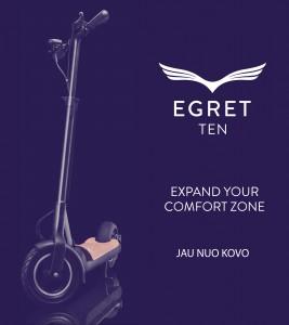 Elektrinis paspirtukas Egret Ten 2016
